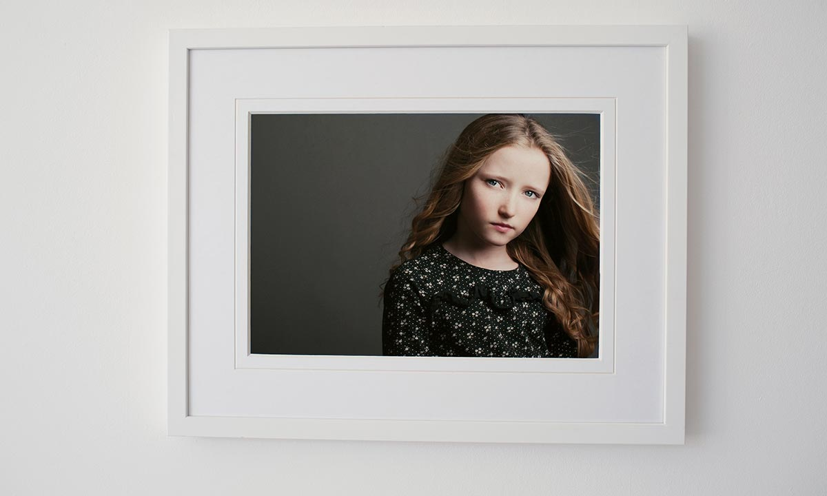 Portrait picture of young girl in frame